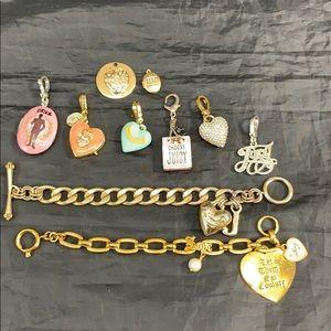 Rare lot 10 Juicy Couture charms & bracelets